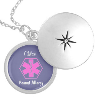 Customizable Medical alert necklace Allergy alert