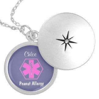 Customizable Medical alert necklace Allergy alert