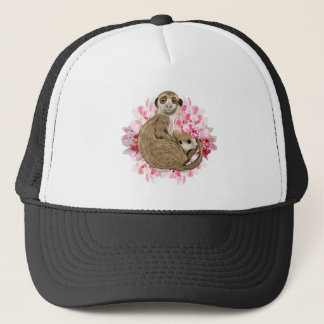 Customizable Meerkat Momma and Baby Trucker Hat