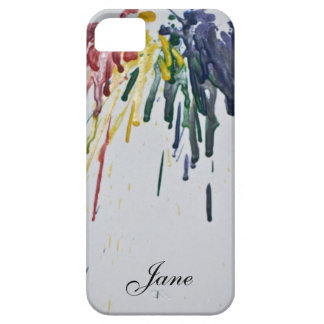 Customizable Melted Crayons iPhone 5 Case