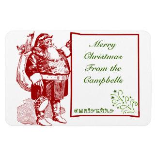 Customizable Merry Christmas Flexible Magnet