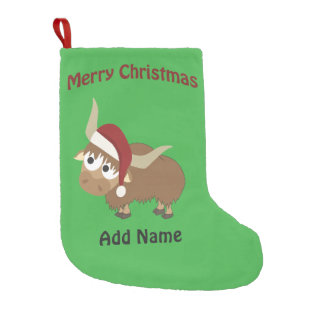 Customizable Merry Christmas yak