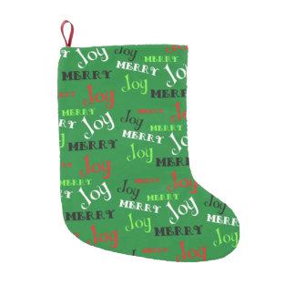 Customizable Merry Joy Small Christmas Stocking