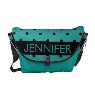 Customizable Messenger Bag Turquoise