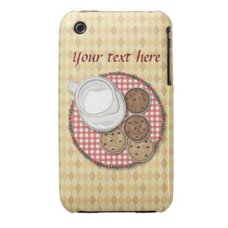 Customizable Milk and Cookies iPhone 3 Cases