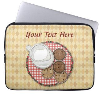 Customizable Milk and Cookies Laptop Computer Sleeves