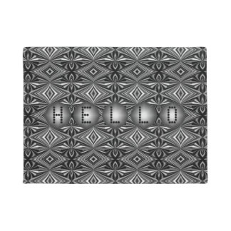 Customizable Modern Stylish B/W Silver Pattern Doormat