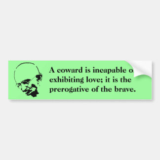 Customizable Mohandas Gandhi Quote Bumper Sticker
