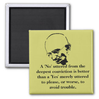 Customizable Mohandas Gandhi Quote Square Magnet