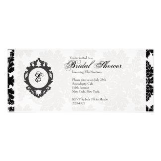 Customizable Monogram Bridal Shower Invitatation Personalized Announcement