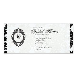 "Customizable Monogram Bridal Shower Invitatation 4"" X 9.25"" Invitation Card"