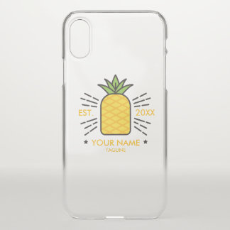 Customizable. Monogram. Cute Fruit. Pineapple. iPhone X Case