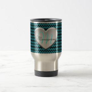 Customizable Monogram Heart Travel Mug