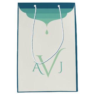 Customizable Monogram Ombre Gift Bag