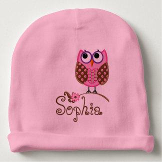 CUSTOMIZABLE Monogram/Owl BABY HAT Baby Beanie