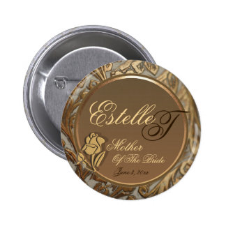 Customizable Mother Of The Bride Keepsake Button
