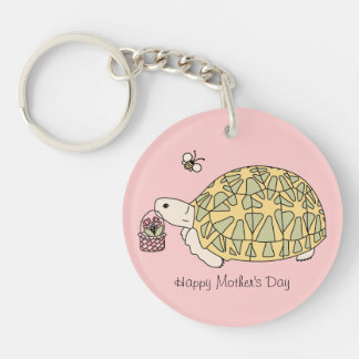 Customizable Mother's Day Tortoise Keychain