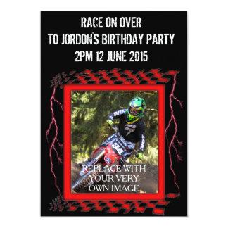 Customizable Motocross Card