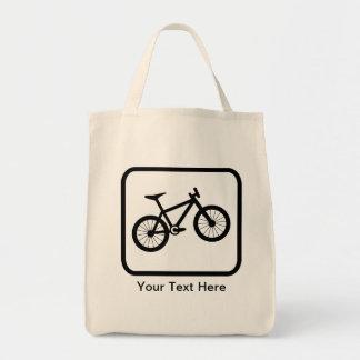 Customizable Mountain Biker Logo Tote Bag