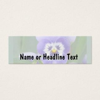 customizable msPansy skinny card template