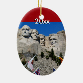 Customizable Mt Rushmore Souvenir Ceramic Ornament