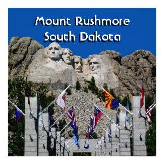 Customizable Mt Rushmore Souvenir Photo Print
