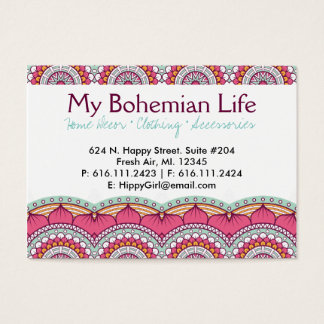 Customizable Multi-Colored Mandala | Business Card