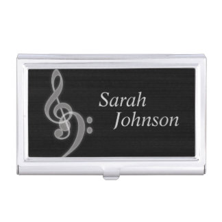 Customizable Music Card Holder Business Card Cases
