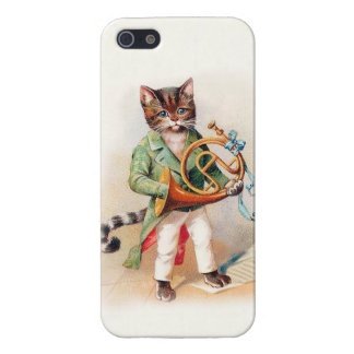 Customizable Musical Victorian Cat iphone5 case