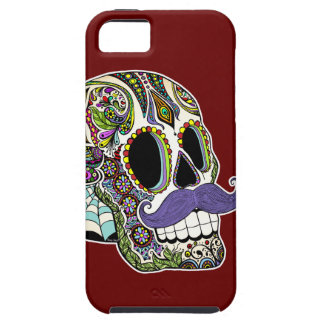 Customizable Mustache Sugar Skull Phone Case