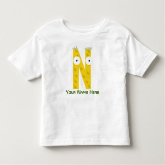 Customizable N Letter T-Shirt