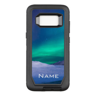 Customizable Name Aurora Borealis OtterBox Defender Samsung Galaxy S8 Case