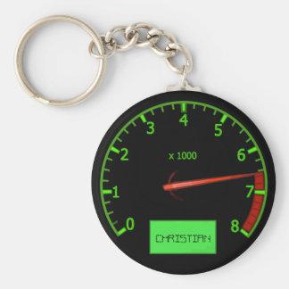 Customizable Name car revs keychains