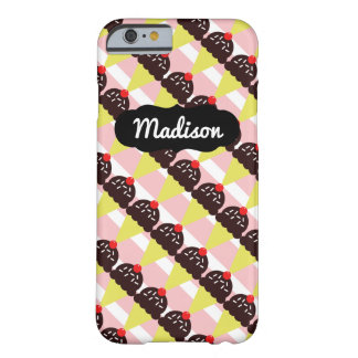 Customizable Name Chocolate Ice Cream iPhone 6/6s Barely There iPhone 6 Case