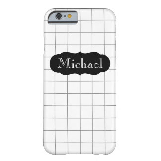 Customizable Name Math Graph Paper iPhone 6/6s Barely There iPhone 6 Case