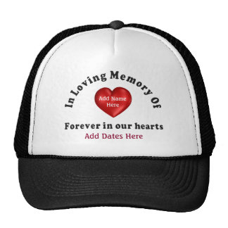 Customizable Name Memorial Products Loving Memory Cap