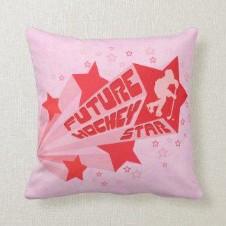 Customizable Name Number Future Hockey Star Pillow