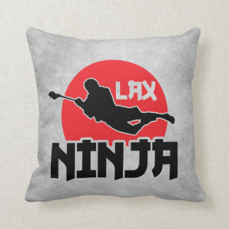 Customizable Name & Number Lacrosse Ninja Pillow