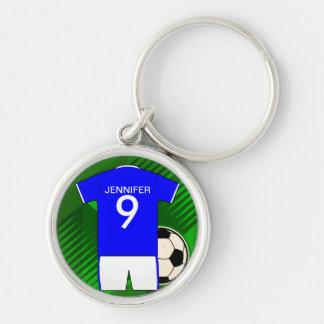 Customizable name soccer Jersey Keychain