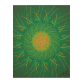 Customizable Nature (Psychedelic spirograph) Wood Canvases