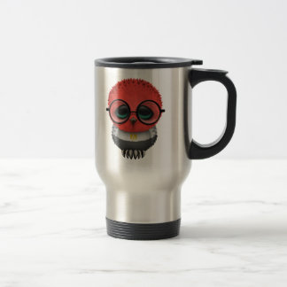 Customizable Nerdy Egyptian Baby Owl Chic Stainless Steel Travel Mug