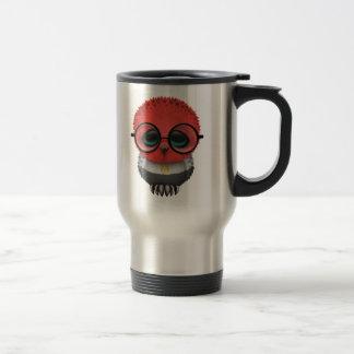 Customizable Nerdy Egyptian Baby Owl Chic Travel Mug