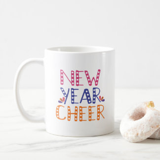 CUSTOMIZABLE New Year Cheer Bright Colors Coffee Mug