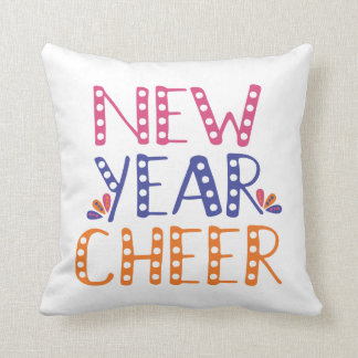CUSTOMIZABLE New Year Cheer Bright Colors Cushion
