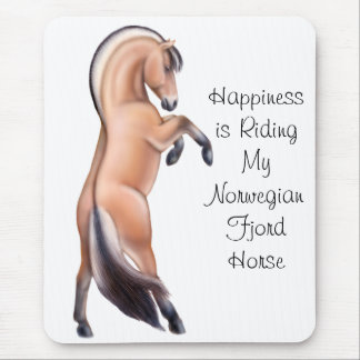Customizable Norwegian Fjord Horse Rearing Mouse Pad