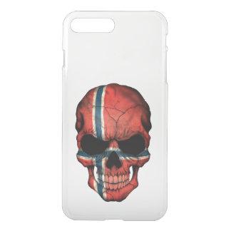 Customizable Norwegian Flag Skull iPhone 7 Plus Case