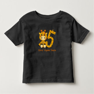 Customizable number 5 t-shirt