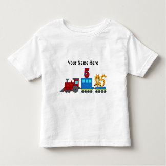 Customizable number 5  t-shirt train