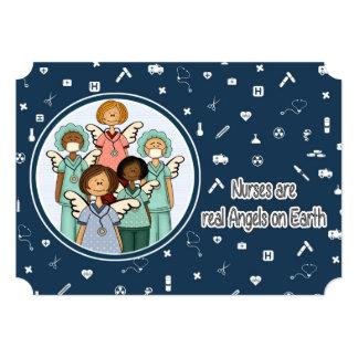 Customizable Nurses Week Greeting Cards 13 Cm X 18 Cm Invitation Card