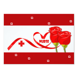 "Customizable Nurses Week Greeting Cards 5"" X 7"" Invitation Card"